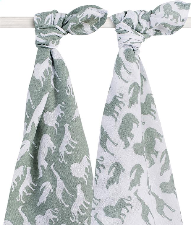 Image pour Jollein Drap tetra Safari forest green - 2 pièces à partir de Dreambaby