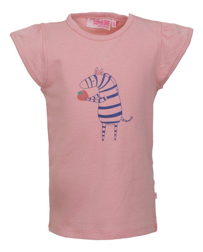 Someone T-shirt met korte mouwen Pink