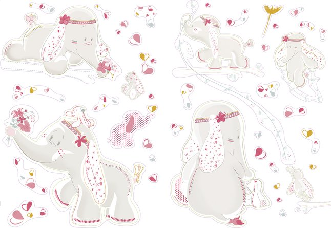 Image pour Noukie's Sticker mural Anna & Pili à partir de Dreambaby