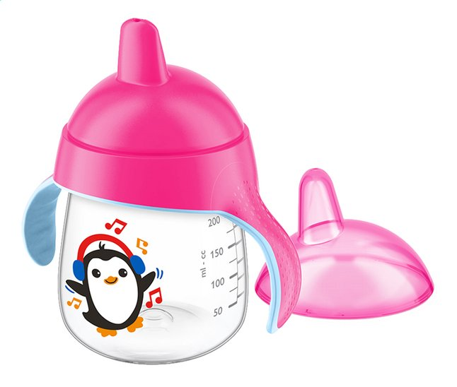 Afbeelding van Philips AVENT Oefenbeker pinguin 260 ml roze from Dreambaby