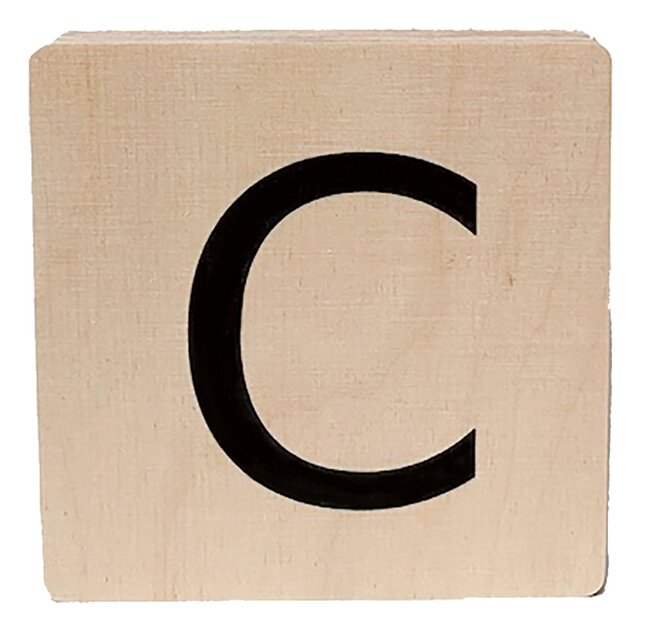 Minimou Lettre en bois C
