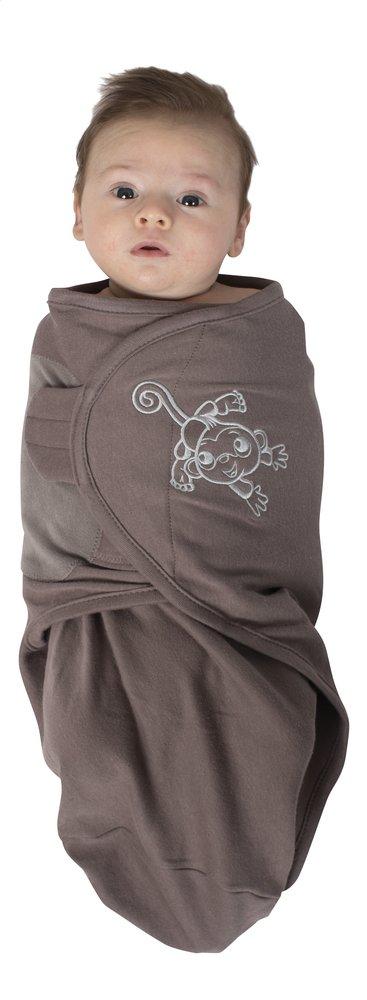 Image pour Bo Jungle Couverture d'emmaillotage B-wrap coton Singe à partir de Dreambaby