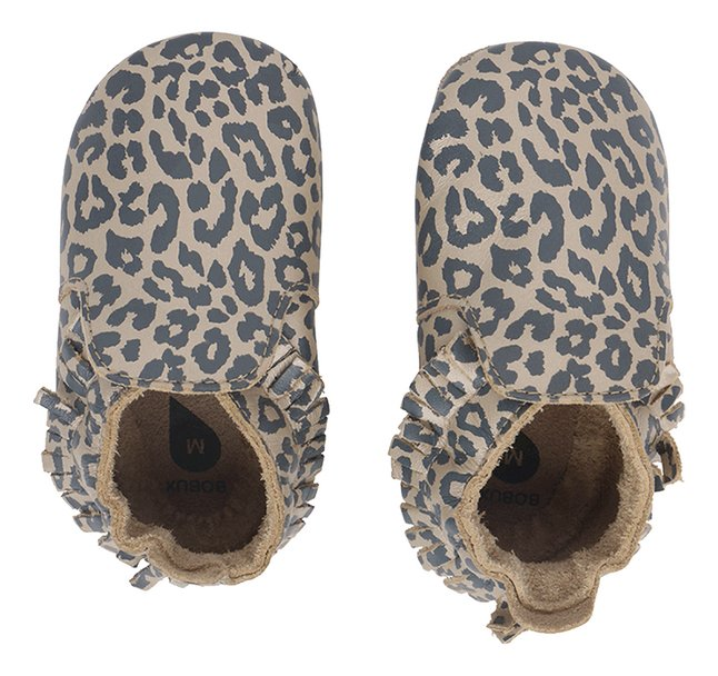 Bobux Chaussures Gold Leopard Print
