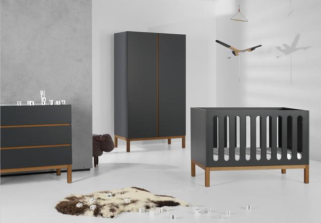 Image pour Quax Chambre de bébé 3 pièces avec armoire 2 portes Indigo moonshadow à partir de Dreambaby