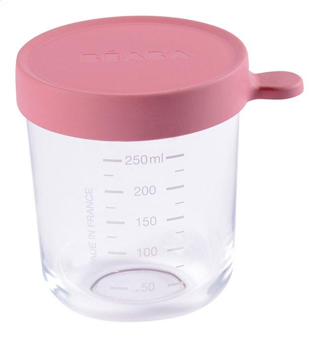 Béaba Glazen bewaarpotje 250 ml roze