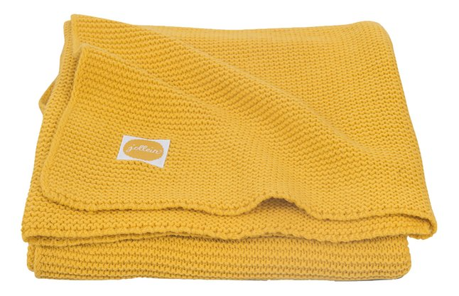 Jollein Deken voor bed Basic Knit ochre katoen