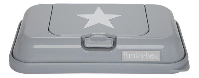 Afbeelding van FunkyBox Doos voor vochtige doekjes To Go grey white stars from Dreambaby