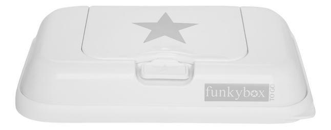 Afbeelding van FunkyBox Doos voor vochtige doekjes To Go white silver star from Dreambaby