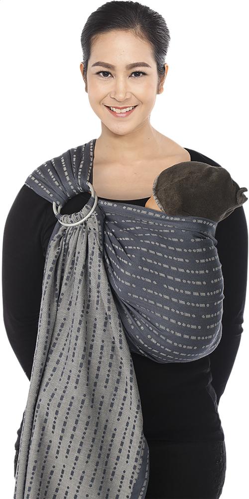 6e8c9001640 Image pour Babylonia Écharpe de portage tissée BB-sling L.O.V.E à partir de  Dreambaby