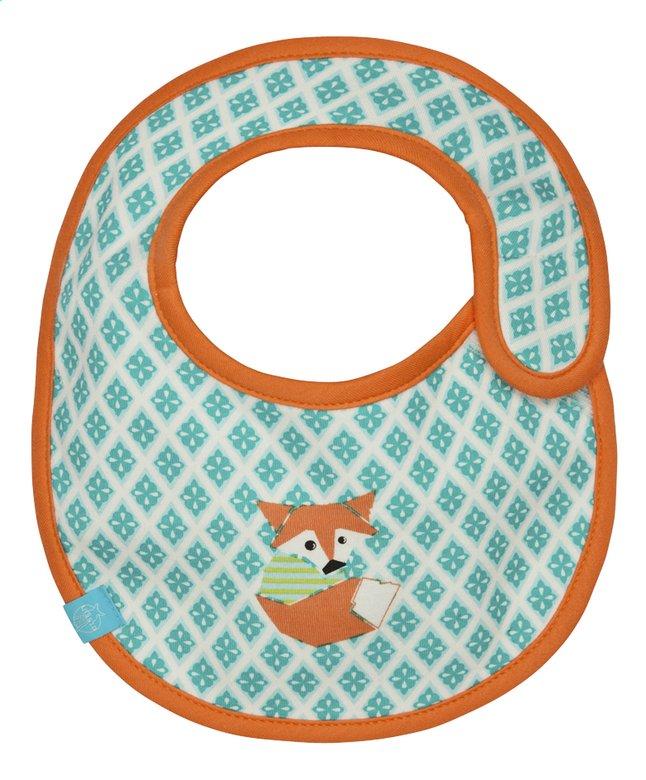 Image pour Lässig Bavoir Little Tree Fox avec fermeture velcro orange/vert à partir de Dreambaby