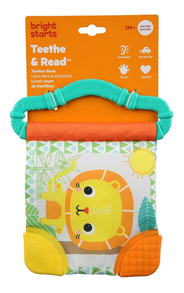 Bright Starts Knuffelboekje met bijtring Teeth & Read groen
