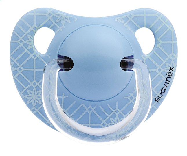 Afbeelding van Suavinex Fopspeen 0 - 6 maanden Anatomical 18 Blue Weave from Dreambaby