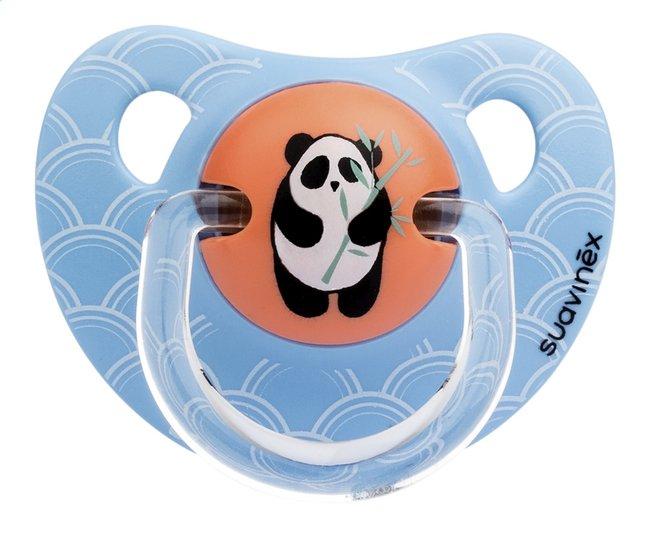 Afbeelding van Suavinex Fopspeen 6 - 18 maanden Anatomical 18 Orange Bamboo Panda from Dreambaby