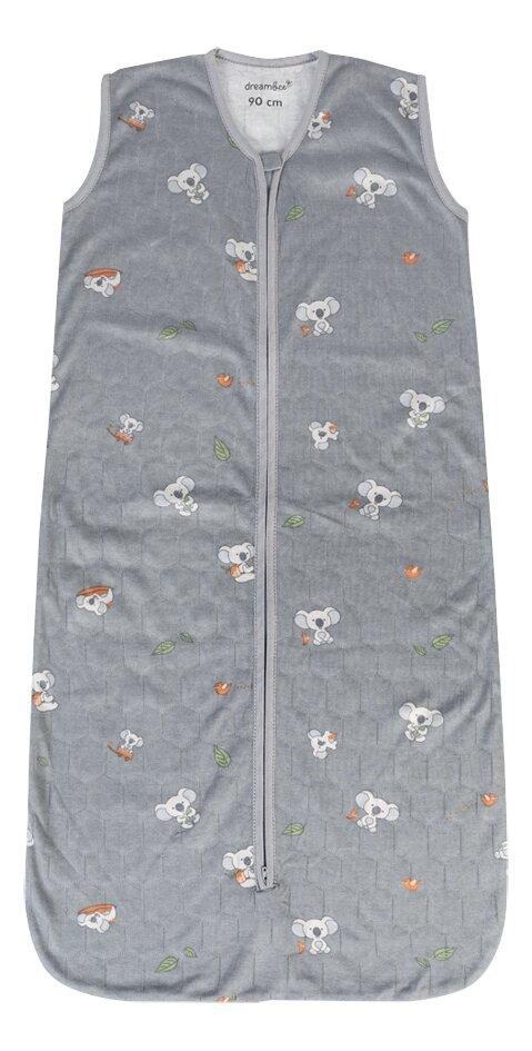 Dreambee Sac de couchage d'été Kai gris 90 cm