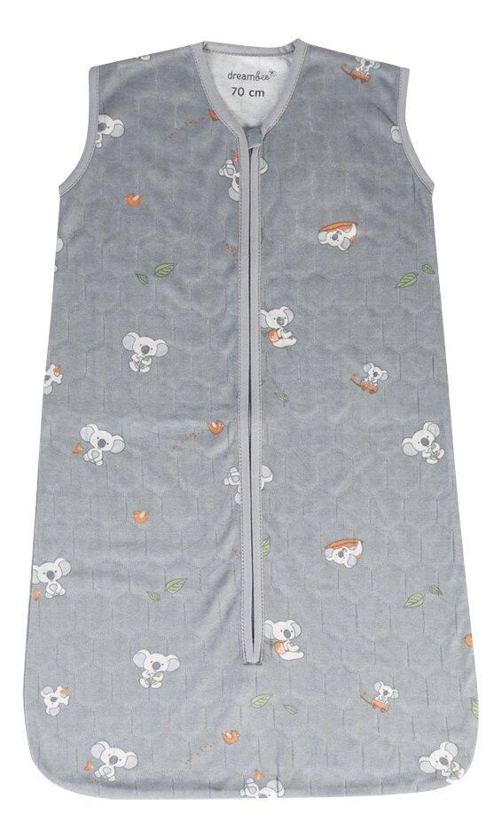Dreambee Sac de couchage d'été Kai gris 70 cm