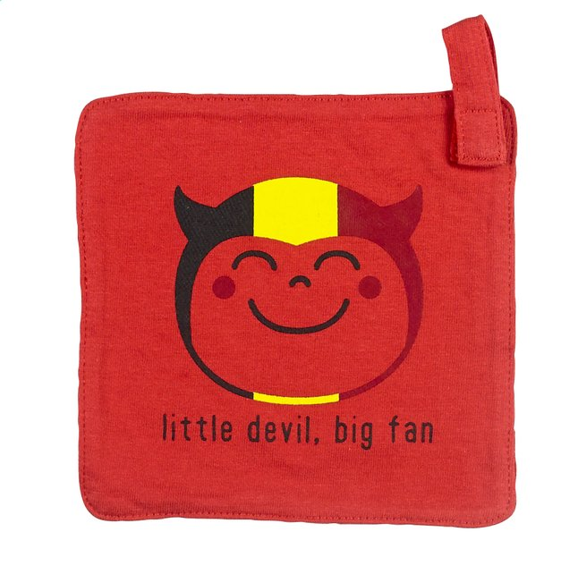 Afbeelding van Wiplala Fopspeendoekje Little Devil Big Fan rood from Dreambaby