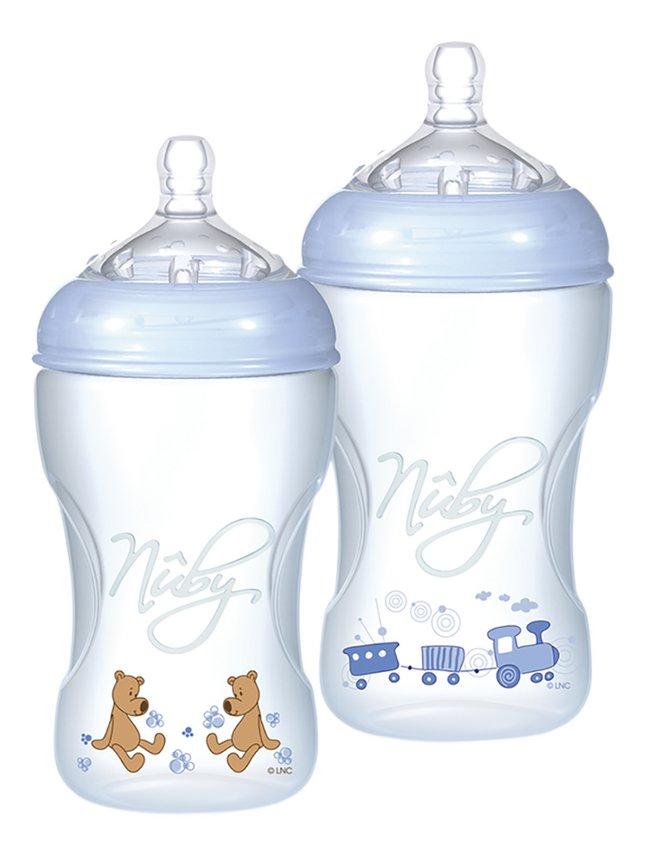 Image pour Nûby Biberon Natural Touch bleu 330 ml à partir de Dreambaby