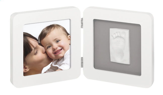Afbeelding van Baby Art 2-delig fotokader met gipsafdruk Print frame wit from Dreambaby