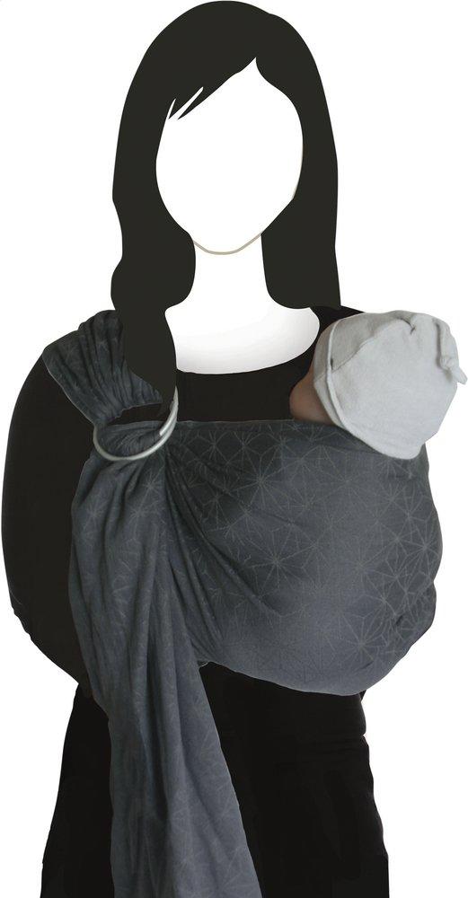 809d4ca728e3 Image pour Babylonia Écharpe de portage tissée BB-SLING geo grey à partir  de Dreambaby