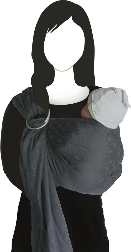 Afbeelding van Babylonia Geweven draagdoek BB-SLING geo grey from Dreambaby
