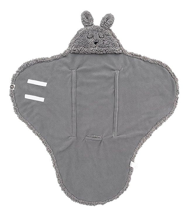 Jollein Wikkelcape Bunny storm grey