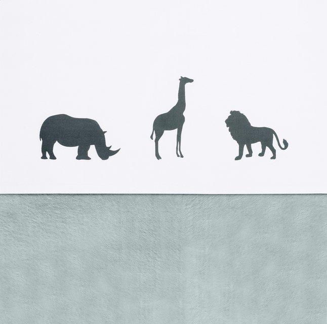 Jollein Laken voor bed Safari stone grey