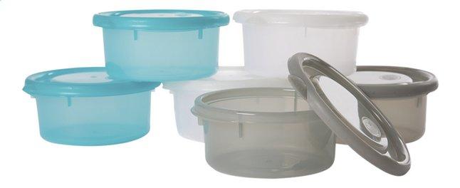 Afbeelding van Bo Jungle Bewaarpotje B-bowls turkoois/grijs/wit 300 ml  - 6 stuks from Dreambaby