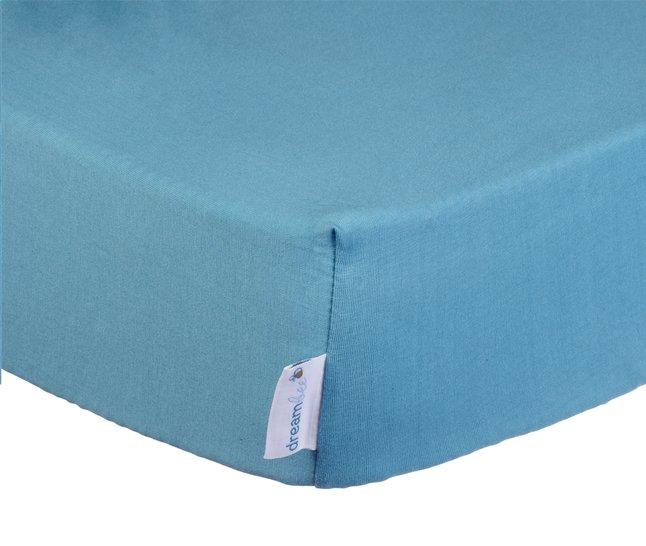 Afbeelding van Dreambee Hoeslaken voor wieg Essentials 90 x 40 cm aquablauw from Dreambaby