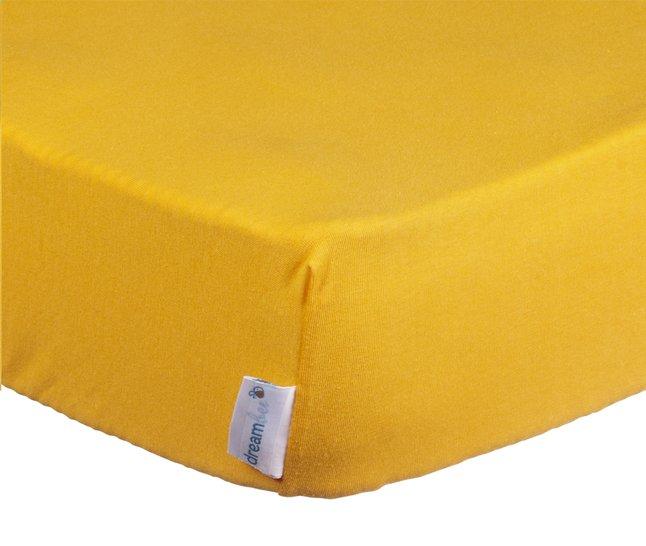 Afbeelding van Dreambee Hoeslaken voor wieg Essentials 90 x 40 cm geel from Dreambaby