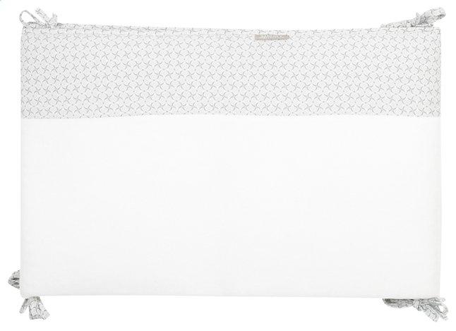 Afbeelding van Timmy Bedomranding Soft Grey grijs/wit katoen/polyester from Dreambaby