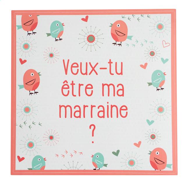 Afbeelding van Minimou Sticker Birdy Veux-tu être ma marraine? from Dreambaby