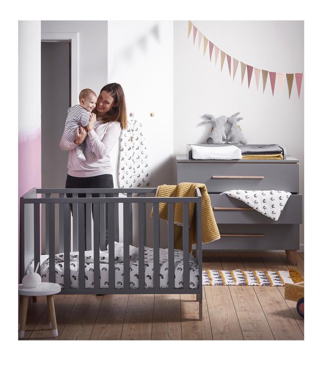 Image pour PAIDI Chambre évolutive 3 pièces avec armoire 2 portes Steffi gris à partir de Dreambaby