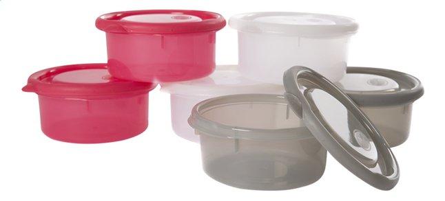 Image pour Bo Jungle Pot de conservation B-bowls blanc/gris/rouge 300 ml - 6 pièces à partir de Dreambaby