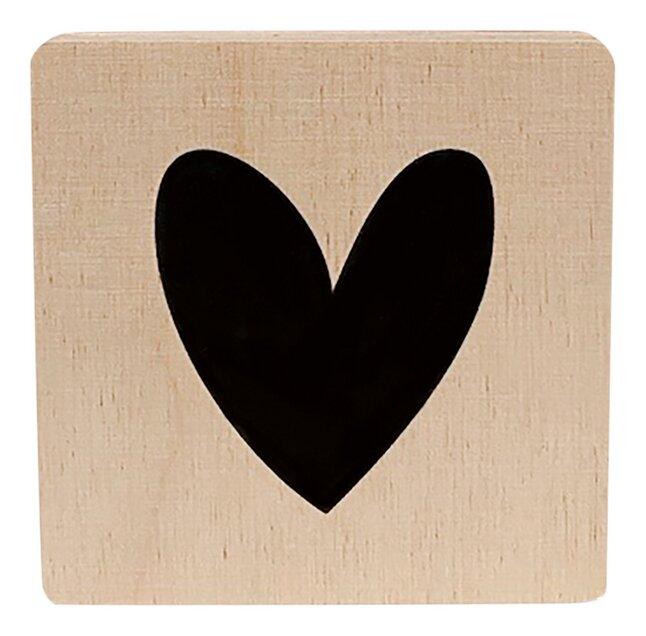 Minimou Lettre en bois Cœur