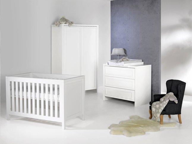 Complete Babykamer 3 Delig.Quax 3 Delige Babykamer Met Kast Met 3 Deuren Linea White Dreambaby