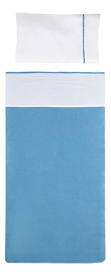 Image pour Jollein Drap pour lit Color Basics blanc/turquoise coton Lg 100 x L 150 cm à partir de Dreambaby