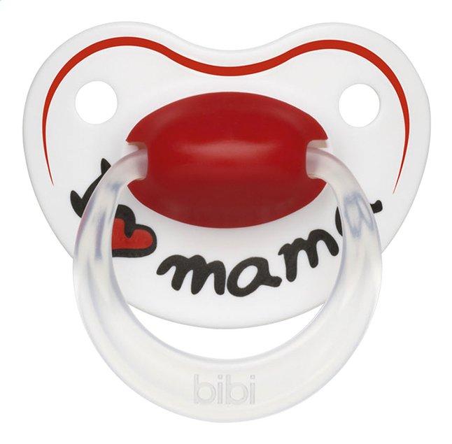Afbeelding van Bibi I love mama rood/wit 6 - 16 maanden from Dreambaby