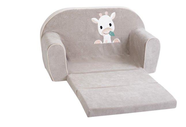 Dreambee Fauteuil pour enfant Tobi 2 places gris