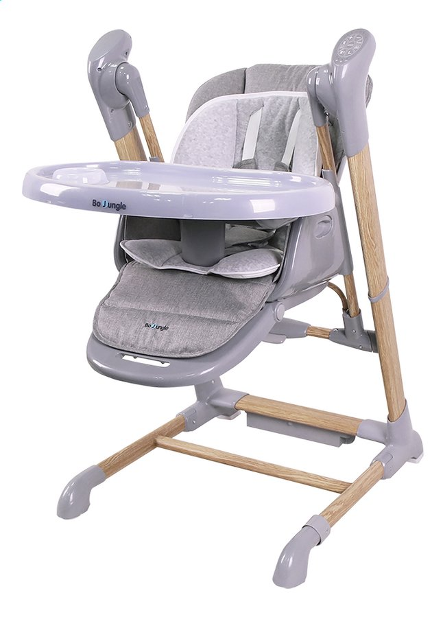 Afbeelding van Bo Jungle Eetstoel B-Swinging wood grey from Dreambaby