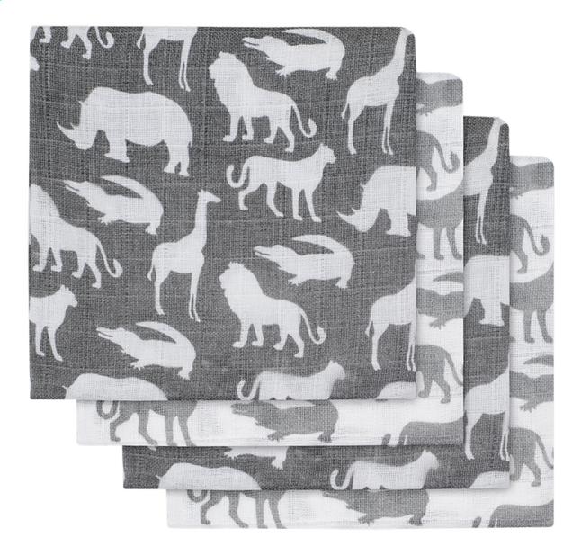 Image pour Jollein Essuie tetra Safari stone grey - 2 pièces à partir de Dreambaby