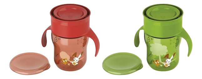 Philips AVENT Gobelet d'apprentissage 260 ml vert/rouge