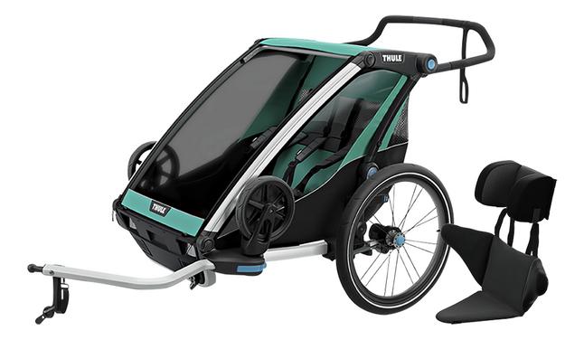 Image pour Thule Remorque de vélo Chariot Lite 2 avec coussin Baby Supporter à partir de Dreambaby