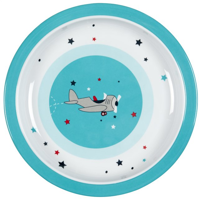 Afbeelding van Lässig Plat bord Little Airplane blauw from Dreambaby