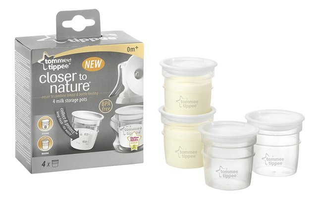 Image pour Tommee Tippee Pot de conservation Closer to Nature 60 ml - 4 pièces à partir de Dreambaby