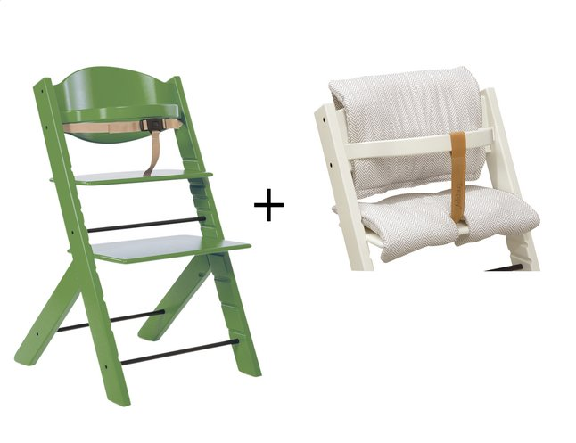 treppy chaise haute avec coussin r ducteur cactus dreambaby. Black Bedroom Furniture Sets. Home Design Ideas