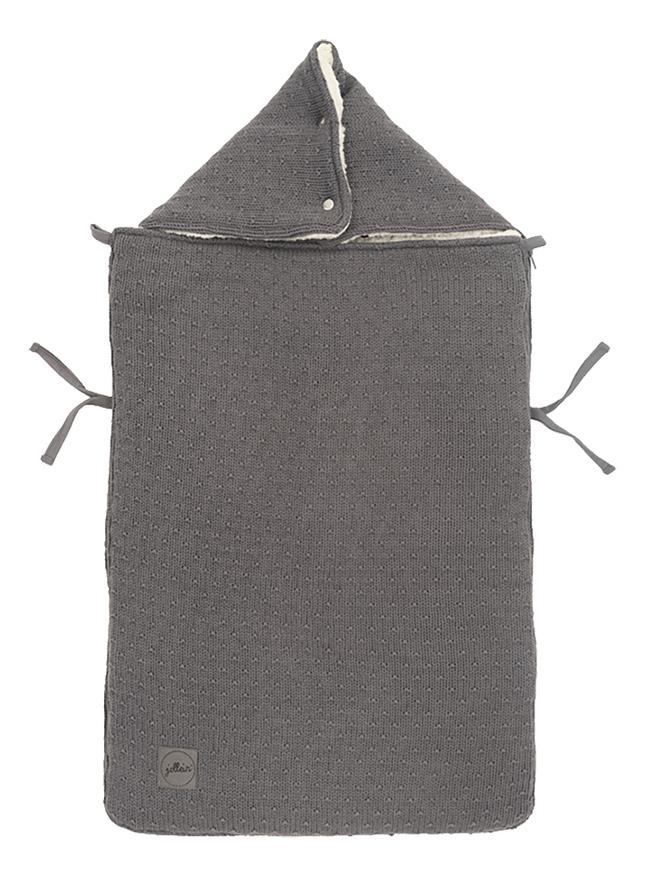 Jollein Chancelière pour siège-auto portable Bliss Knit Storm Grey
