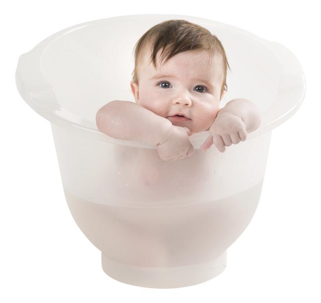Image pour doomoo basics Seau de bain Shantala blanc à partir de Dreambaby