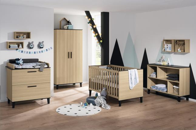 Afbeelding van PAIDI 3-delige babykamer met kast met 2 deuren Vincent from Dreambaby