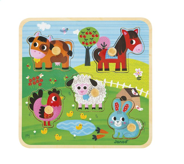 Afbeelding van Janod Puzzel Happiness Farm Puzzle from Dreambaby