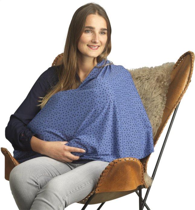 Image pour Jen & James Châle/écharpe d'allaitement étoile bleu à partir de Dreambaby